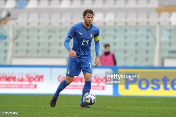 Manuel Locatelli of Italy U21 in action during the friendly match between Italy U21 and Pescara Calcio at Adriatico Stadium Giovanni Cornacchia on...