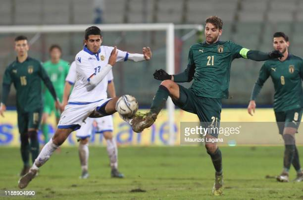 Manuel Locatelli of Itaòy during the UEFA U21 European Championship Qualifier match between Italy and Armenia at Stadio Angelo Massimino on November...