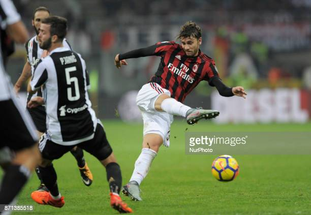 Manuel Locatelli of Milan player during the match valid for Italian Football Championships Serie A 20172018 between AC Milan and FC Juventus at San...