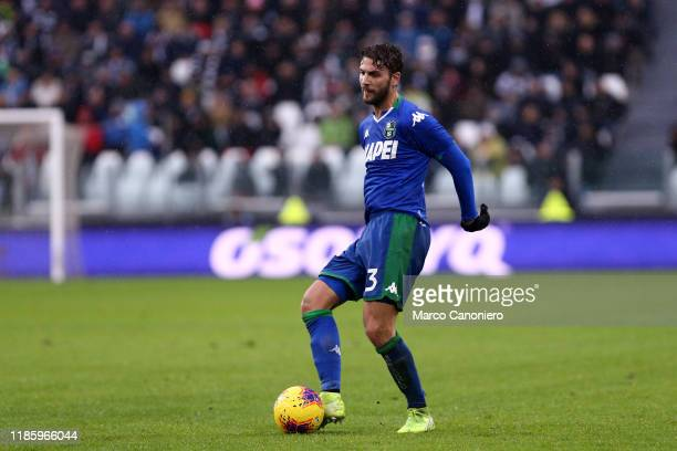 Manuel Locatelli of Us Sassuolo Calcio in action during the the Serie A match between Juventus Fc and Us Sassuolo Calcio The match end in a tie 22