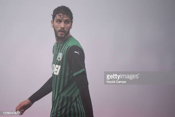Manuel Locatelli of US Sassuolo looks on during the Serie A football match between US Sassuolo and Torino FC The match ended 33 tie