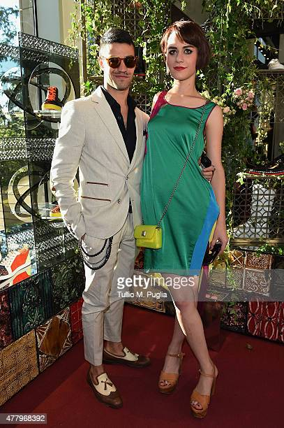 Manuel Maida and Eva Galimberti attend the Christian Louboutin boutique opening cocktail on June 20, 2015 in Milan, Italy.