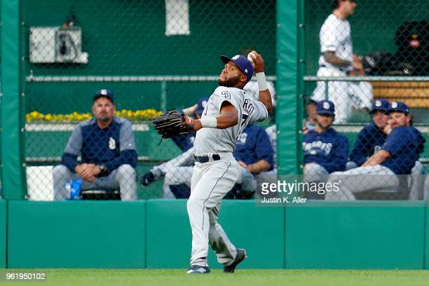 Manuel Margot of the San Diego Padres in action against the Pittsburgh Pirates at PNC Park on May 17 2018 in Pittsburgh Pennsylvania Manuel Margot