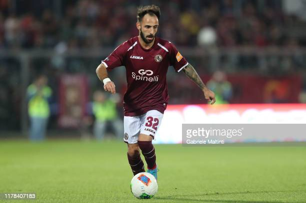 Manuel Marras of AS Livorno in action during the Serie B match between AS Livorno and Pisa SC at Stadio Armando Picchi on October 26 2019 in Livorno...