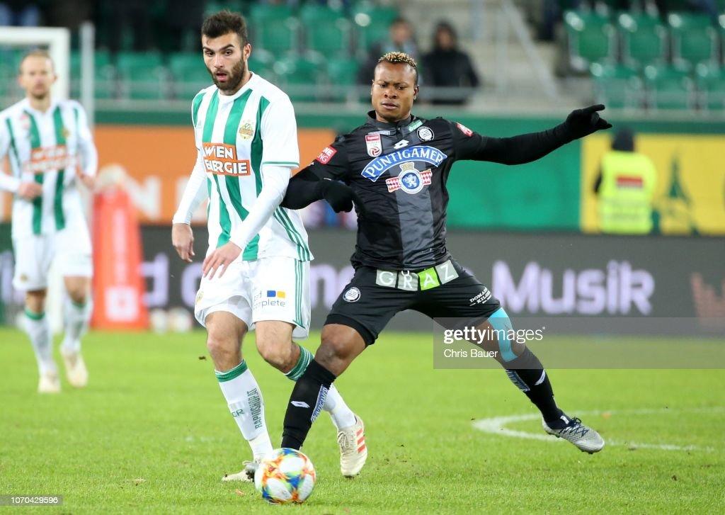 Manuel Martic Of Rapid Wien Emeka Eze Of Sturm Graz During The News Photo Getty Images