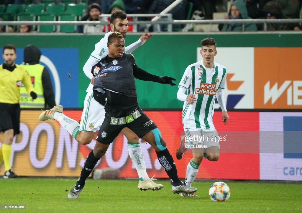 Manuel Martic Of Rapid Wien Emeka Eze Of Sturm Graz Mert Muelduer News Photo Getty Images