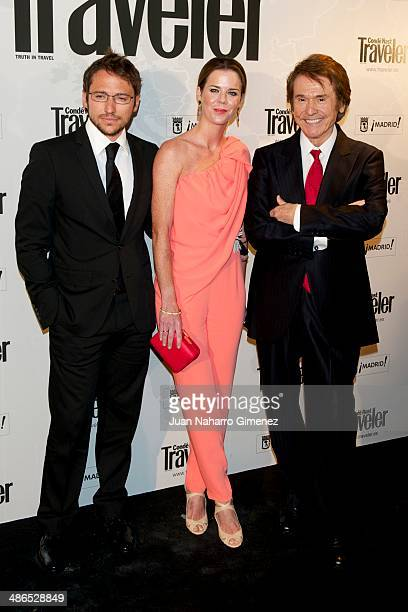 Manuel Martos Amelia Bono and Spanish singer Raphael attend the Conde Nast Traveler Awards 2014 at the Jardines de Cecilio Rodriguez on April 24 2014...