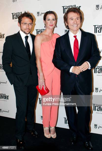 Manuel Martos Amelia Bono and Spanish singer Raphael attend the Conde Nast Traveler Awards 2014 on April 24 2014 in Madrid Spain