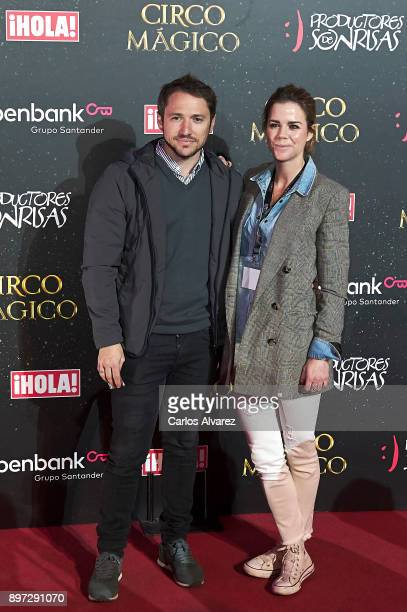 Manuel Martos and Amelia Bono attend 'Circo Magico' premiere on December 22 2017 in Madrid Spain