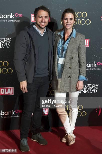 Manuel Martos and Amelia Bono attend 'Circo Magico' premiere on December 22 2017 in Madrid Spain