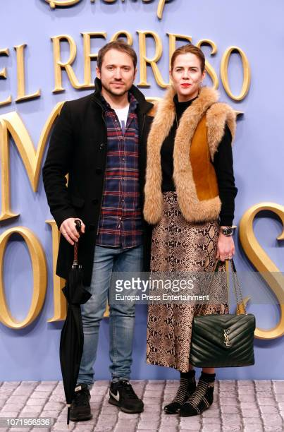 Manuel Martos and Amelia Bono attend 'El Regreso de Mary Poppins' premiere at Kinelpolis cinema on December 11 2018 in Madrid Spain