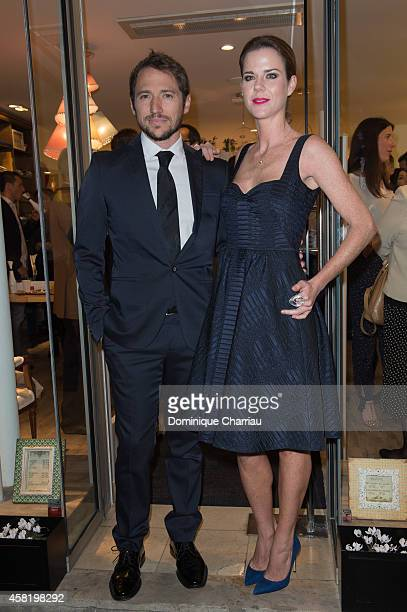 Manuel Martos and Amelia Bono attend the 'Dolores Promesas' Opening Store in Paris on October 31 2014 in Paris France
