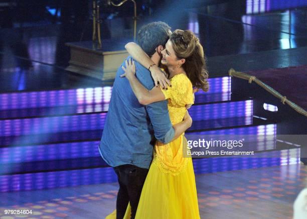 Manuel Martos and Amelia Bono during 'Bailando con las estrellas' TVE programme on June 19 2018 in Barcelona Spain