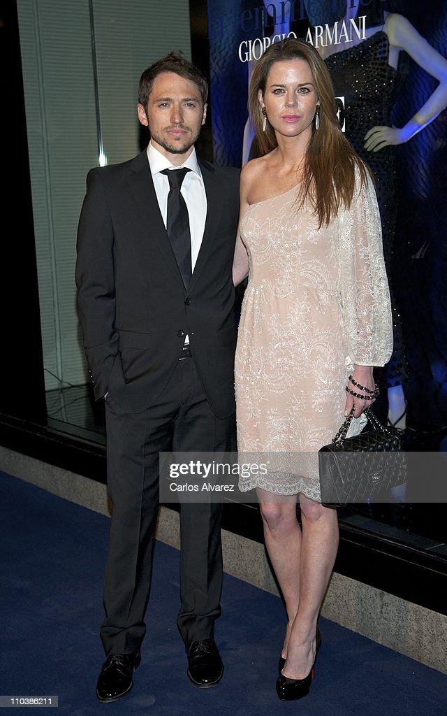 Giorgio Armani and Vogue Present New Collection 'La Femme Bleue' : News Photo
