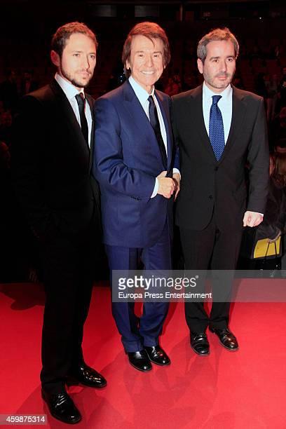 Manuel Martos Figeroa Raphael and Jacobo Martos Figueroa attend the 'Teather' 2013 award from Madrid Regional President Ignacio Gonzalez on December...