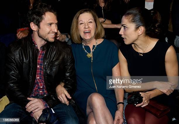 Manuel Martos Natalia Figueroa and Toni Acosta attend the Juanjo Oliva show during MercedesBenz Fashion Week Madrid A/W 2012 at Ifema on February 2...