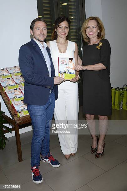 Manuel Martos Silvia Perez and Ana Rodriguez attends the launch of Patricia Perez book 'Yo Si Que Cocino' at Herbolario Navarro on April 21 2015 in...