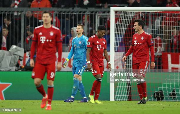 Manuel Neuer Bayern München David ALABA FC Bayern München Mats Hummels FC Bayern München Muenchen during the UEFA Champions League Round of 16 Second...