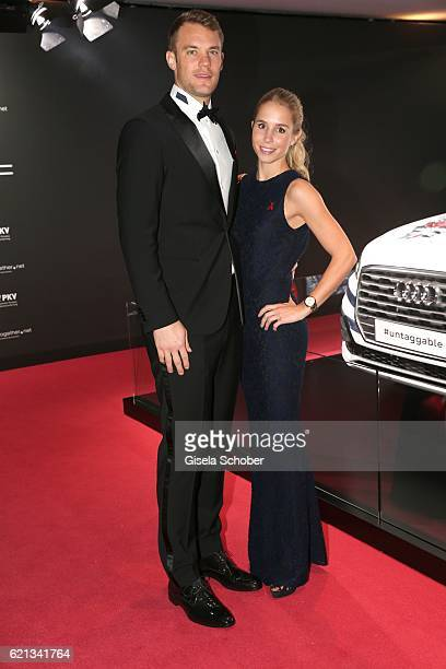 Manuel Neuer goal keeper FC Bayern Munich and his girlfriend Nina Weiss during the 23rd Opera Gala benefit to 'Deutsche AIDSStiftung' at Deutsche...