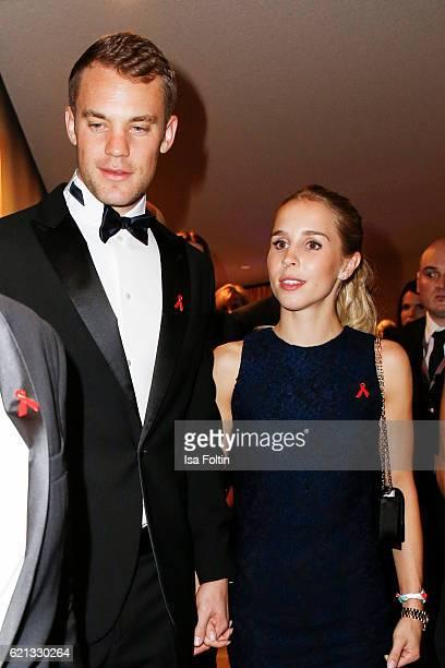 Manuel Neuer goal keeper of the german national soccer team and his girlfriend Nina Weiss attend the 23rd Opera Gala at Deutsche Oper Berlin on...