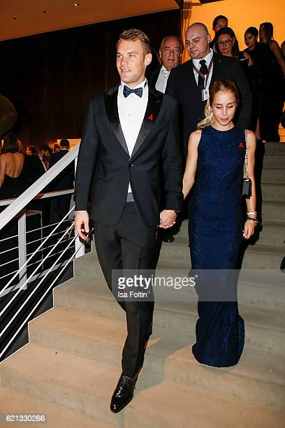 Manuel Neuer goal keeper of the german national soccer team and his girlfriend Nina Weiss attend the 23rd Opera Gala at Deutsche Oper Berlin on...