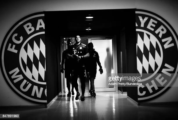 Manuel Neuer of Bayern Munich before the Bundesliga match between FC Bayern Muenchen and 1 FSV Mainz 05 at Allianz Arena on September 16 2017 in...