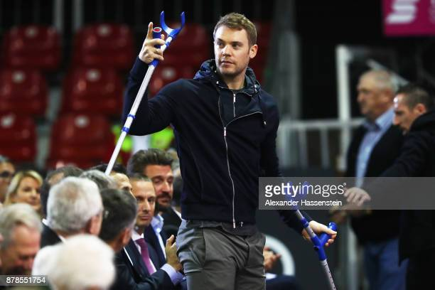 Manuel Neuer of FC Bayern Muenchen attends the FC Bayern Muenchen Annual General Assembly at AudiDome on November 24 2017 in Munich Germany