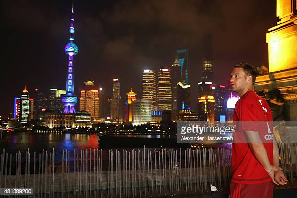 Manuel Neuer of FC Bayern Muenchen looks on at the Audi quattro Cup 2015 Night Gala at Bar Rouge Shanghai The Bund during day 4 of the FC Bayern Audi...