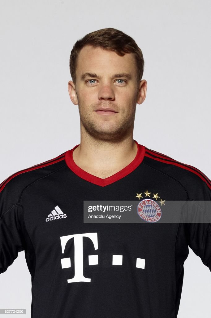 Manuel Neuer of FC Bayern Munich poses during the team ...