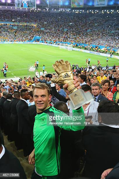 ee786a2d7b7 Manuel Neuer of Germany celebrates the Golden Glove during the award  ceremony after the 2014 FIFA