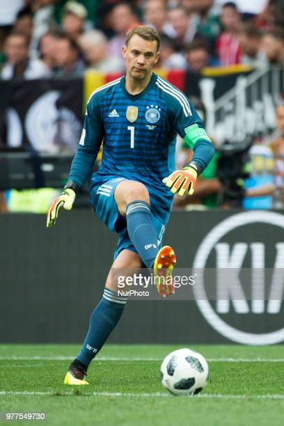 Manuel Neuer of Germany during the 2018 FIFA World Cup Russia Group F match between Germany and Mexico at Luzhniki Stadium in Moscow Russia on June...