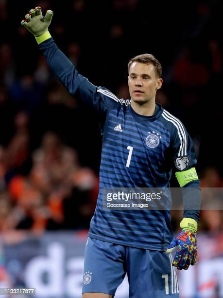 Manuel Neuer of Germany during the EURO Qualifier match between Holland v Germany at the Johan Cruijff Arena on March 24 2019 in Amsterdam Netherlands