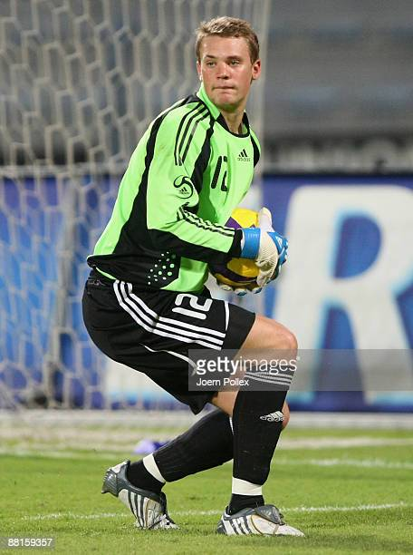 Manuel Neuer of Germany is seen in action during the International Friendly match between the United Arab Emirates and Germany at AlMaktoum Stadium...