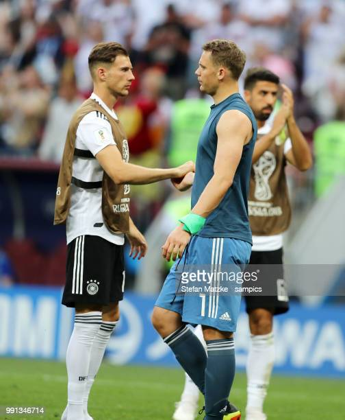 Manuel Neuer of Germany Leon Goretzka of Germany during the 2018 FIFA World Cup Russia group F match between Germany and Mexico at Luzhniki Stadium...