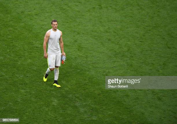 Manuel Neuer of Germany looks dejected following his sides defeat in the 2018 FIFA World Cup Russia group F match between Korea Republic and Germany...