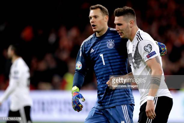 Manuel Neuer of Germany Niklas Sule of Germany during the EURO Qualifier match between Holland v Germany at the Johan Cruijff Arena on March 24 2019...