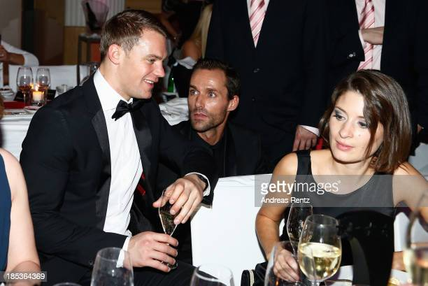 Manuel Neuer Sven Hannawald and Kathrin Gilch attend the 7th Audi Generation Award 2013 at Hotel Bayerischer Hof on October 19 2013 in Munich Germany