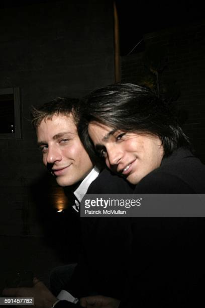 Manuel Norena and Brad Michelson attend Nathan Ellis' Birthday Celebration at The Garden on May 19 2005 in New York City