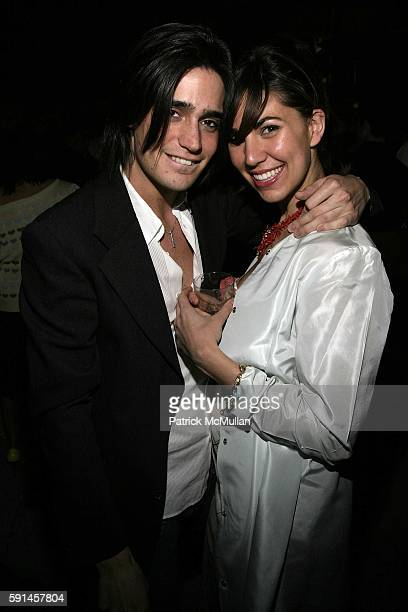Manuel Norena and Elisabeth Gutowski attend Nathan Ellis' Birthday Celebration at The Garden on May 19 2005 in New York City