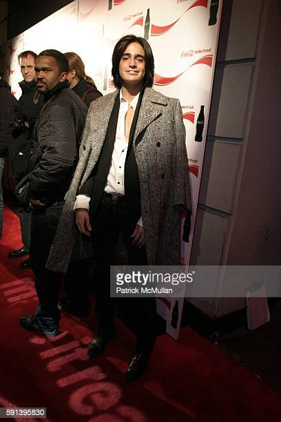 Manuel Norena attends CocaCola Make It Real Launch Party with Shepard Fairey and Jennifer Nicholson at Marquee on February 10 2005 in New York City