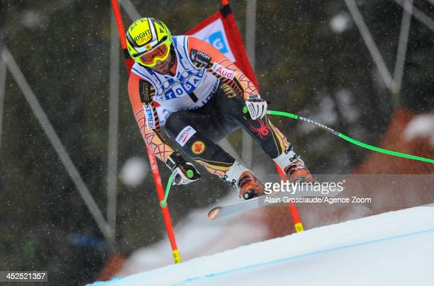 Manuel OsborneParadis from Canada competes during the Audi FIS Alpine Ski World Cup Men's Downhill Training on November 29 2013 in Lake Louise Canada