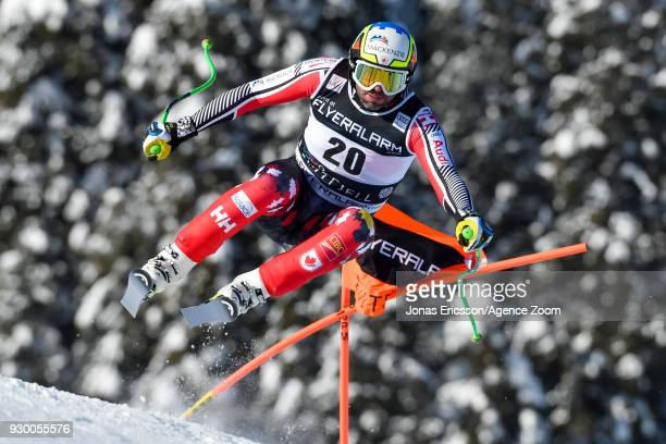 Manuel Osborneparadis of Canada competes during the Audi FIS Alpine Ski World Cup Men's Downhill on March 10 2018 in Kvitfjell Norway
