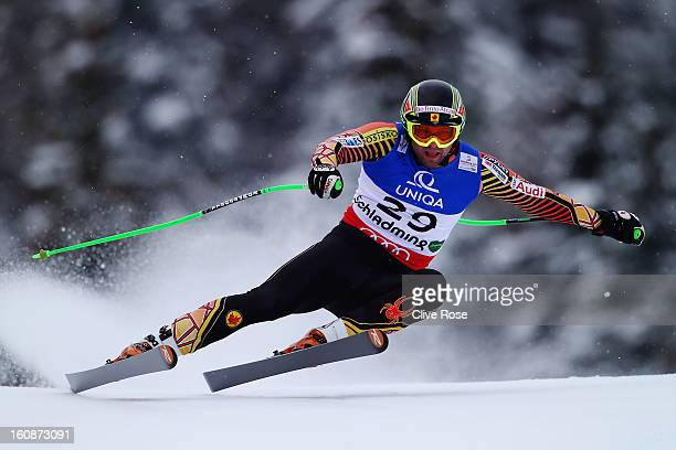 Manuel OsborneParadis of Canada skis in the Men's Downhill Training during the Alpine FIS Ski World Championships on February 7 2013 in Schladming...