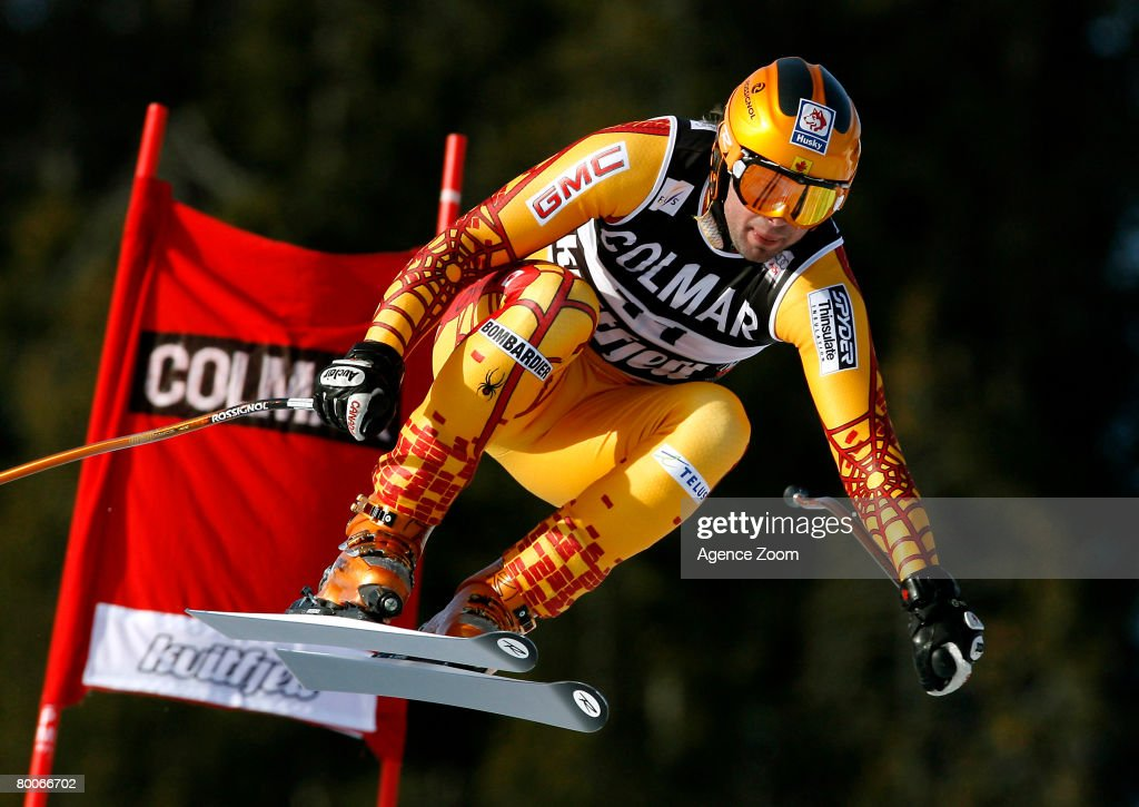 Manuel Osborne-Paradis of Canada takes 4th place during the Alpine FIS Ski World Cup Men's Downhill on February 29, 2008 in Kvitfjell, Norway.