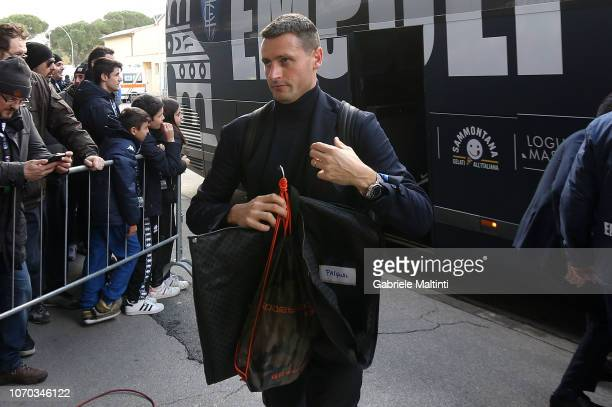 Manuel Pasqual of Empoli FC arrives at the stadium during the Serie A match between Empoli and Bologna FC at Stadio Carlo Castellani on December 9...