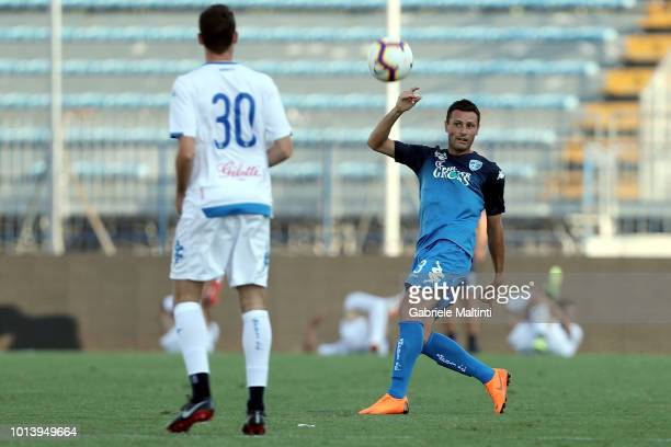 Manuel Pasqual of Empoli FC in action during the preseason frienldy match between Empoli FC and Empoli FC U19 on August 9 2018 in Empoli Italy