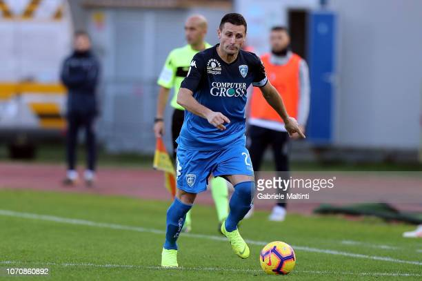 Manuel Pasqual of Empoli FC in action during the Serie A match between Empoli and Bologna FC at Stadio Carlo Castellani on December 9 2018 in Empoli...