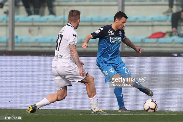 Manuel Pasqual of Empoli FC in action during the Serie A match between Empoli and Parma Calcio at Stadio Carlo Castellani on March 2 2019 in Empoli...