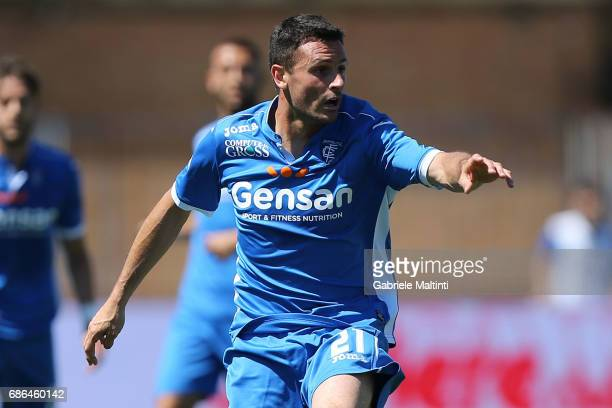 Manuel Pasqual of Empoli FC reacts during the Serie A match between Empoli FC and Atalanta BC at Stadio Carlo Castellani on May 21 2017 in Empoli...