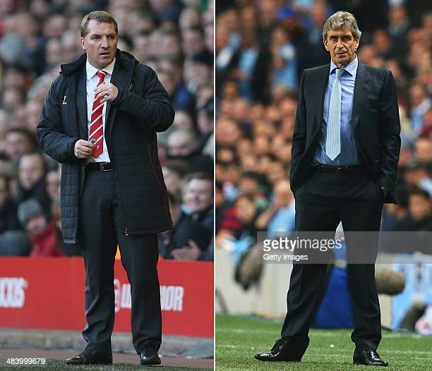 IMAGES Image Numbers 161859127 and 182933633 In this composite image a comparison has been made between Brendan Rodgers manager of Liverpool and...
